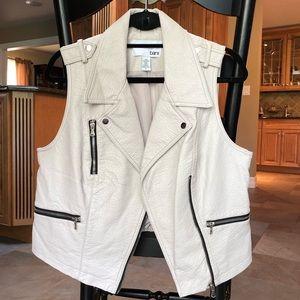 Bar III Faux Leather Moto Vest